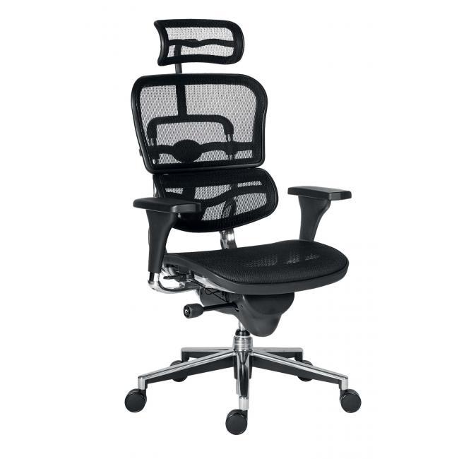 Kancelárska stolička Ergohuman čierna
