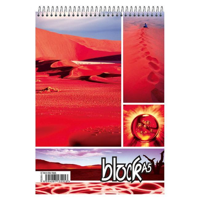Blok so špirálou hore A5 50 listov linajkový