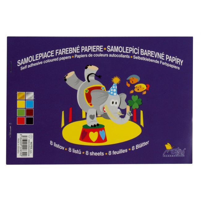 Farebný papier samolepiaci 8-hárkový
