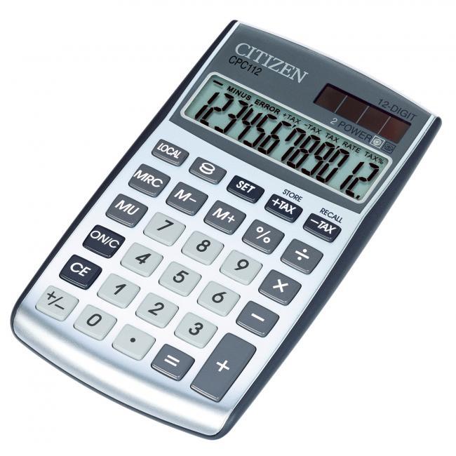 Kalkulačka Citizen CPC-112 strieborná