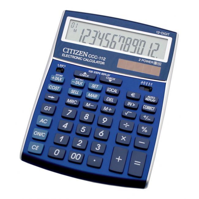 7e1747b19cfd5 Kancelárska technika | Kalkulačka Citizen CCC-112 modrá ...
