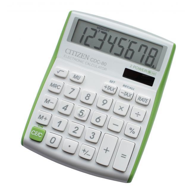 Kalkulačka Citizen CDC-80 V zelená