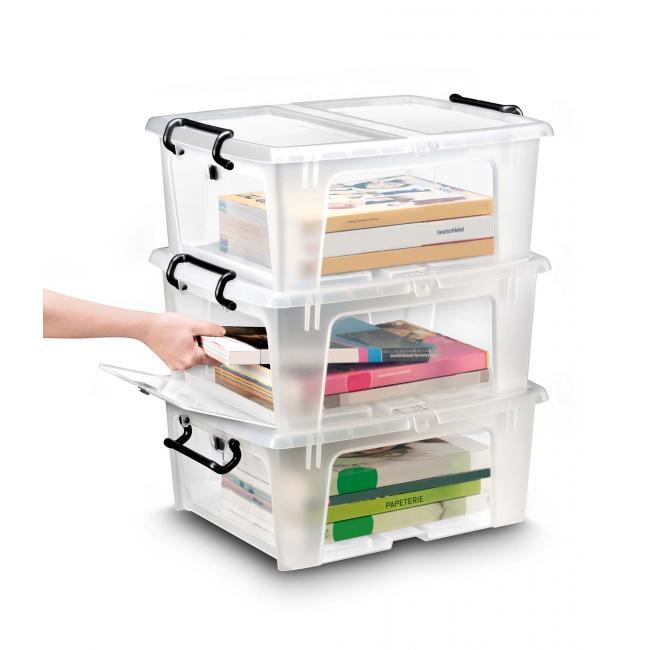Plastový box s otváraním spredu 20 l