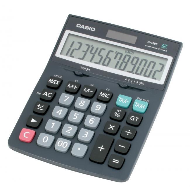 Kalkulačka Casio D-120 B stolová