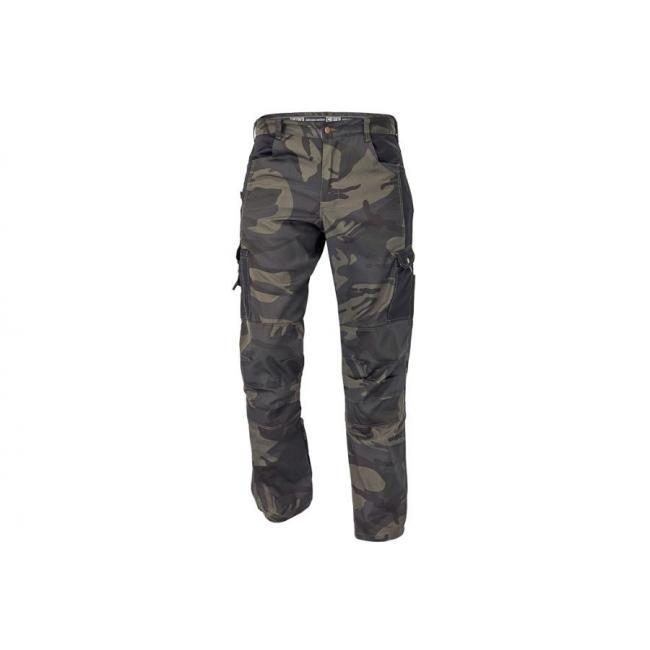 Nohavice do pása CRAMBE kamufláž XL