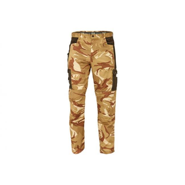 Nohavice do pása CRAMBE béžová kamufláž XL
