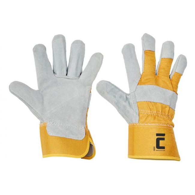 Rukavice pracovné, kombinované EIDER, žlté, veľ. 10/XL