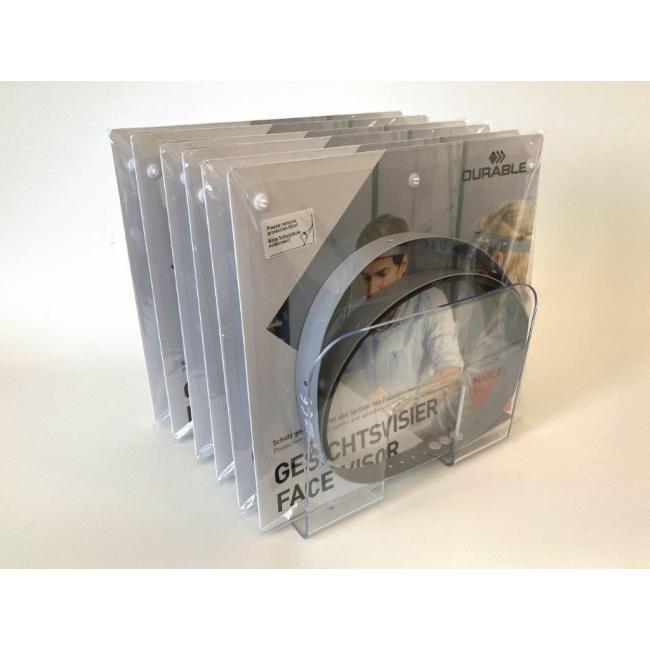 Ochranný štít na tvár Durable 6 ks v predajnom stojane