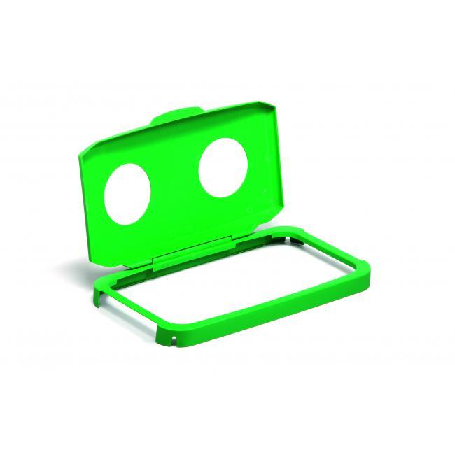 Veko na kôš DURABIN LID 60 s otvormi na fľaše zelené