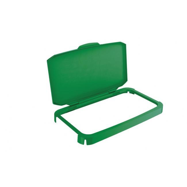 Veko na plastový kôš DURABIN 60 s rámom zelené