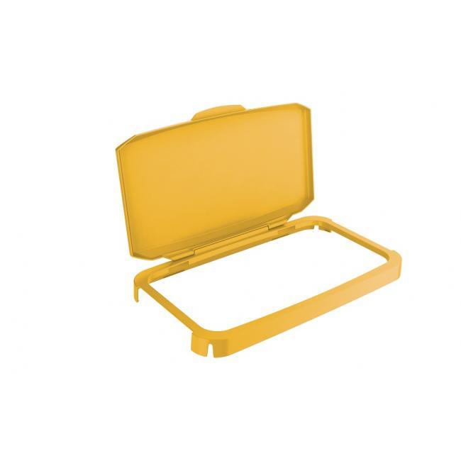 Veko na plastový kôš DURABIN 60 s rámom žlté