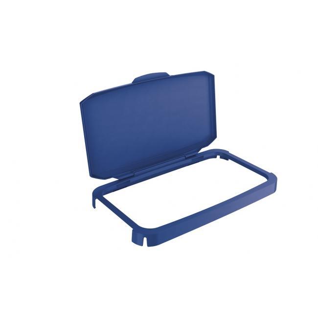 Veko na plastový kôš DURABIN 60 s rámom modré