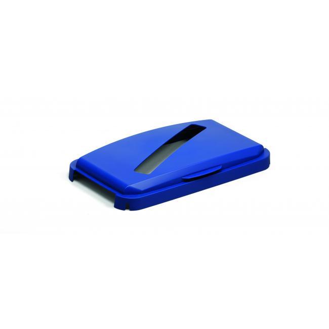 Veko na kôš DURABIN LID 60 s otvorom na papier modré
