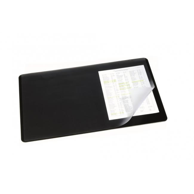 Podložka na stôl DURABLE s priehľadnou fóliou 40x53cm čierna