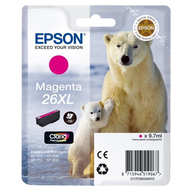 Atramentová náplň Epson T2633 26XL Claria magenta pre XP-600/700 (9,7 ml)