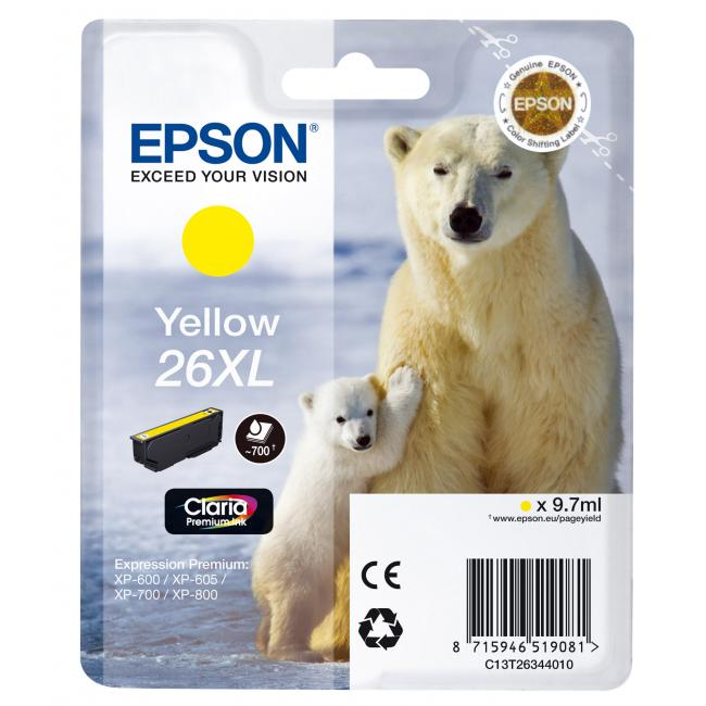 Atramentová náplň Epson T2634 26XL Claria yellow pre XP-600/700 (9,7 ml)