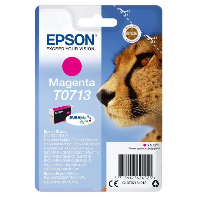 Atramentová náplň Epson T07134011 magenta pre D78/DX4000/4050/5000/5050/6000 (5,5 ml)