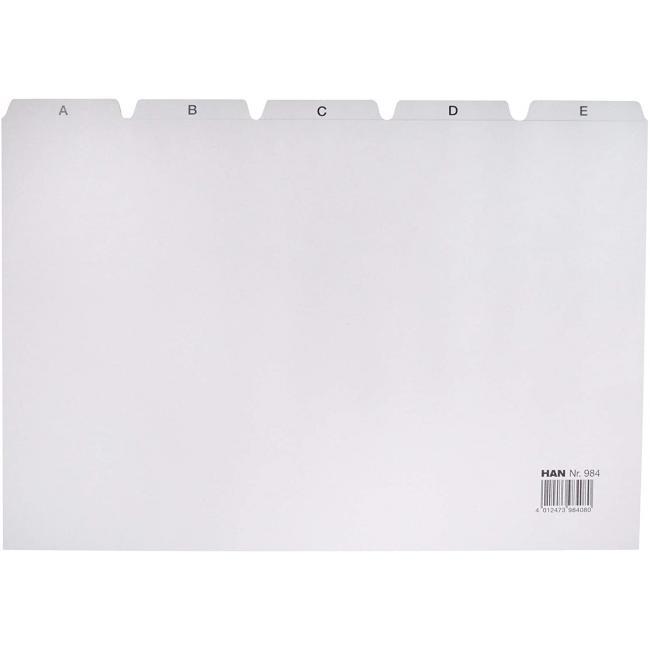 Plastové indexové kartičky A4 do kartotéky HAN 954