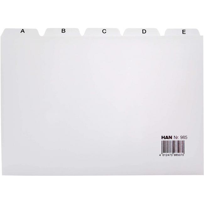 Plastové indexové kartičky A5 do kartotéky HAN 955
