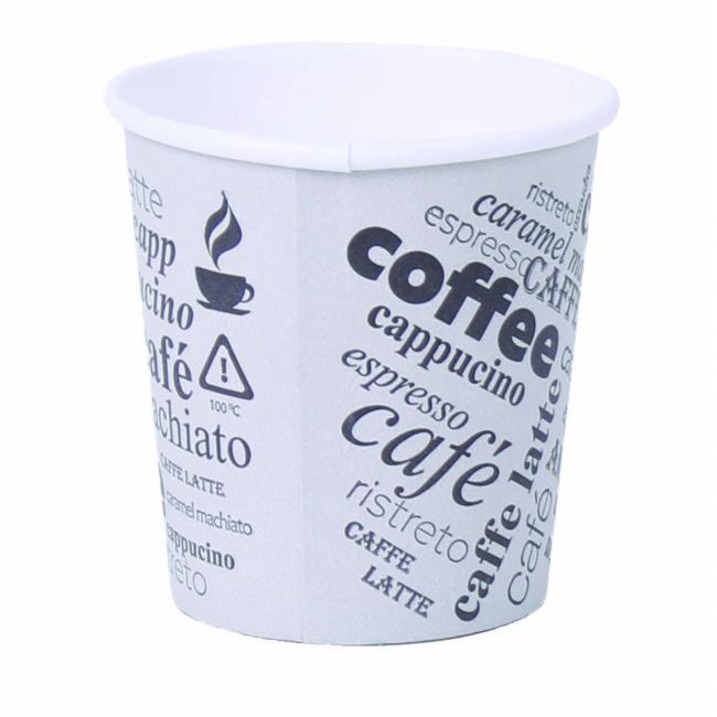 Papierový pohár 0,1l `Coffee to go` s motívom 50ks