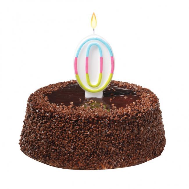 Tortová sviečka číslovka 0