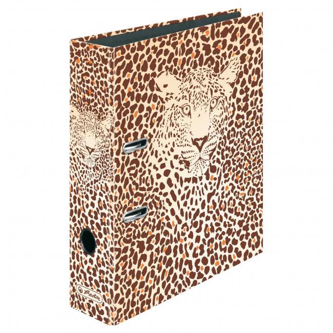 Zakladač pákový Herlitz 8cm Leopard