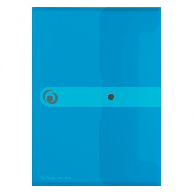 Plastový obal A4 s cvočkom Herlitz Easy Orga priehľadný modrý