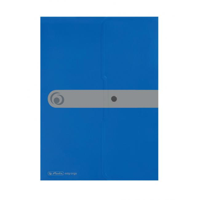 Plastový obal A4 s cvočkom Herlitz Easy Orga modrý