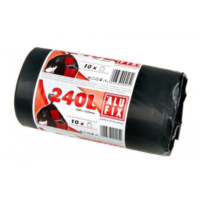 Vrecia 240l 35mic. 1000x1250mm 10 ks čierne