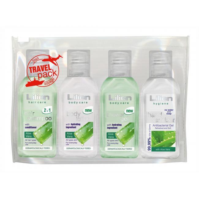 Cestovná sada kozmetiky Lilien travel pack 4x50 ml