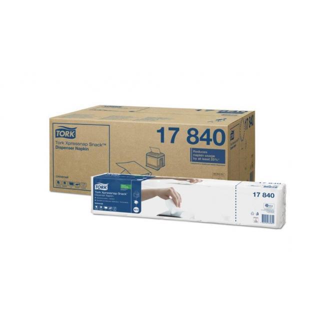 Papierové servítky 1-vrstv. TORK Xpressnap Snack biele  N10 (8x5x225ks)