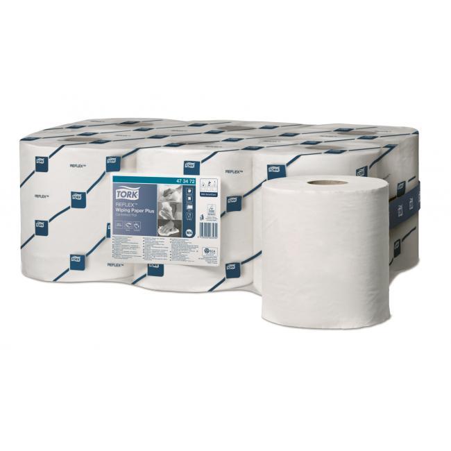 Papierové utierky so stred. odvíjaním 2-vrstv. TORK Reflex Midi biele M4 ( 6ks)
