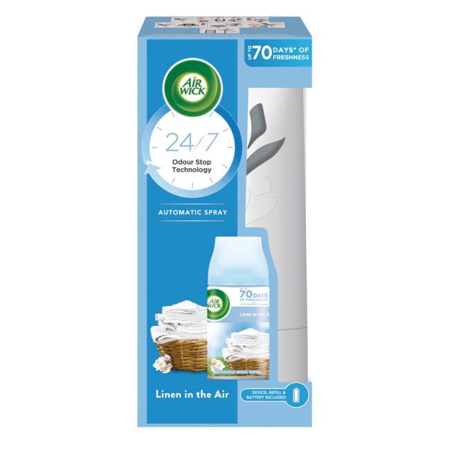 Air Wick Automat  osviežovač + náplň 250ml vôňa  sviežej bielizne
