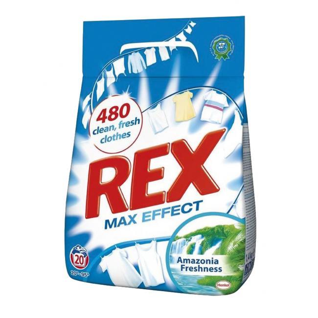 Rex prací prášok (20PD) Amazonia Freshness Biela 1,5kg