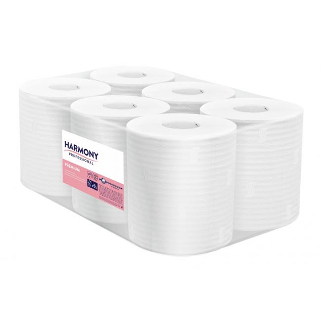Papierové utierky v rolke 2-vrstvové Harmony Professional Maxi 6ks