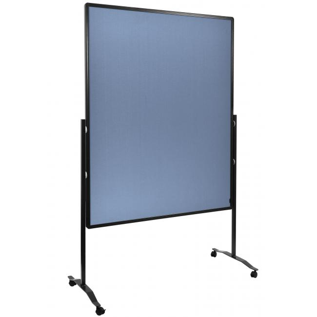Moderačná tabuľa plstená 150x120 cm PREMIUM modrosivá