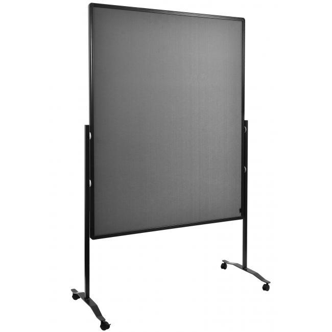 Moderačná tabuľa plstená 150x120 cm PREMIUM sivá
