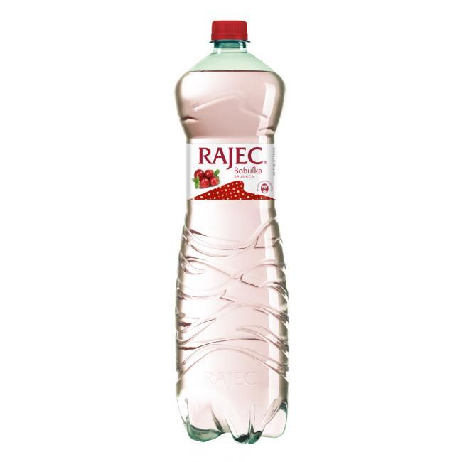 Pramenitá voda Rajec ochutená - brusnica jemne sýtená 6x1,5l