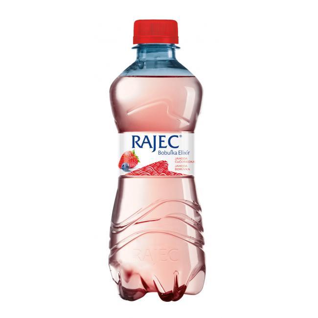 Pramenitá voda Rajec Bobuľka elixír ochutená - jahoda čučoriedka 0,33l PET