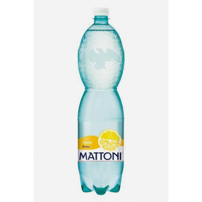 Minerálna voda MATTONI ochutená - citrón sýtená 6x1,5l