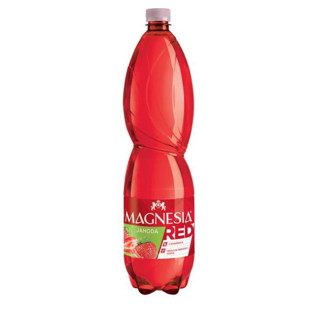 Minerálna voda MAGNESIA red ochutená - jahoda 6x1,5l