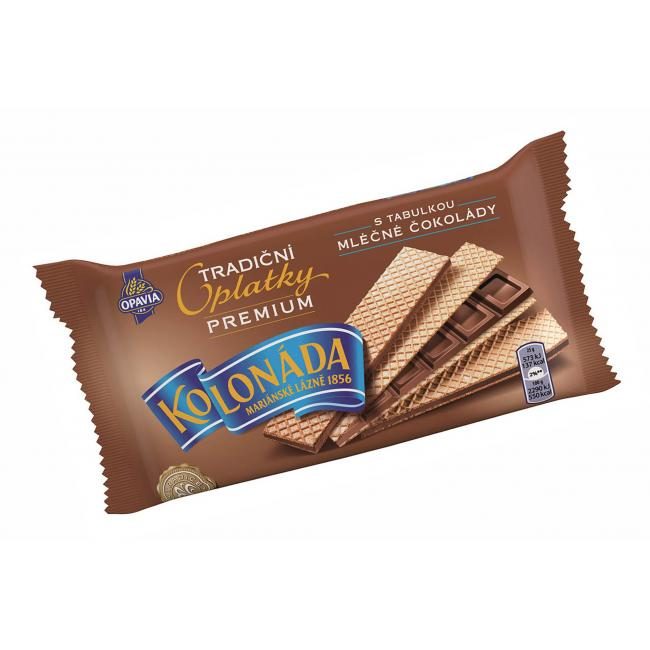 Oblátky Kolonáda Premium - mliečna čokoláda  92 g