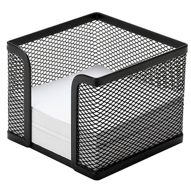 Drôtený stojan na blok `kocka` 95x80x95mm čierny