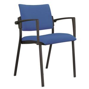 Konferenčná stolička Kubic s podrúčkami modrá