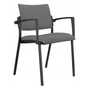 Konferenčná stolička Kubic s podrúčkami šedá