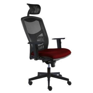 Kancelárska stolička York Net, E-SY+ PDH+ podrúčky červená