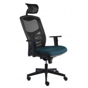 Kancelárska stolička York Net, E-SY+ PDH+ podrúčky modrosivá