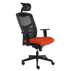 Kancelárska stolička York Net, E-SY+ PDH+ podrúčky oranžová