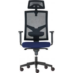 Kancelárska stolička GAME Šéf  SYN modrá (Bombay 37) + PDH + podrúčky P44