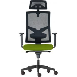 Kancelárska stolička GAME Šéf SYN zelená (Bombay 38) + PDH + podrúčky P44